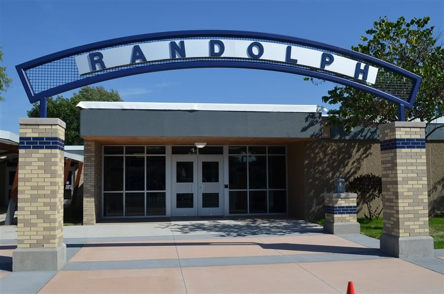 Photo of exterior arch of Randolph Elementary