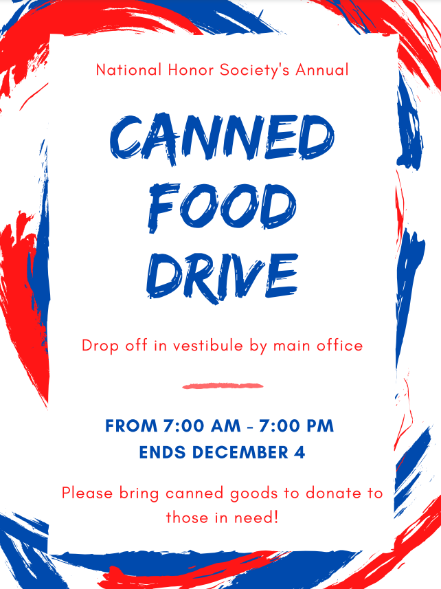NHS 2020 Canned Food Drive