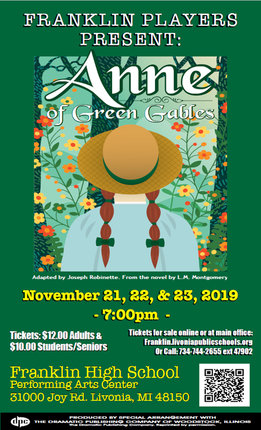 Franklin Players Present: Anne of Green Gables