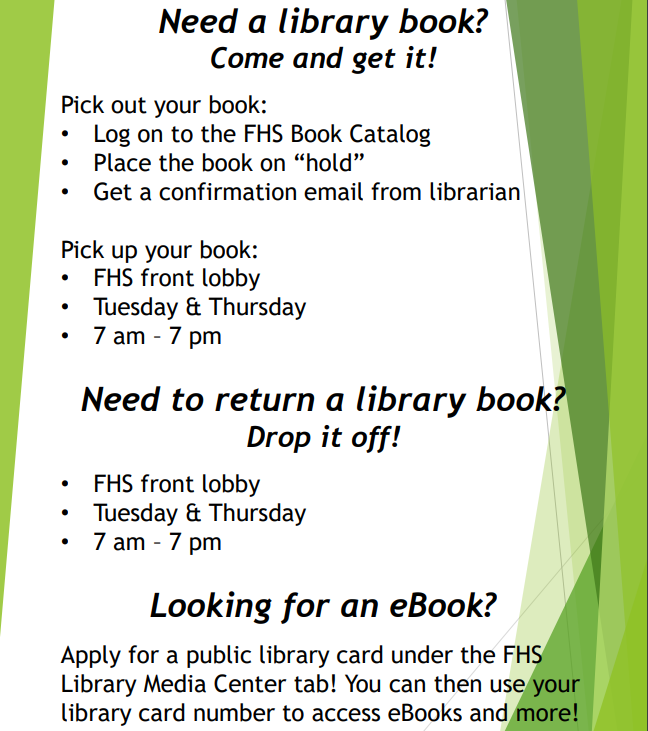 Library Books Flyer