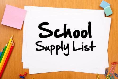 Our School Supply List is Available!