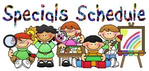 Picture of specials schedule clipart