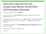 Link to ACAT Nomination Form