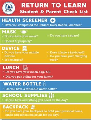 Student Parent Checklist