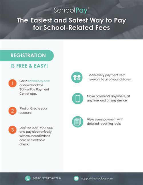 School Pay flyer