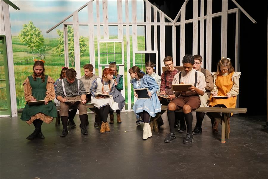 students on stage for Anne of Green Gables