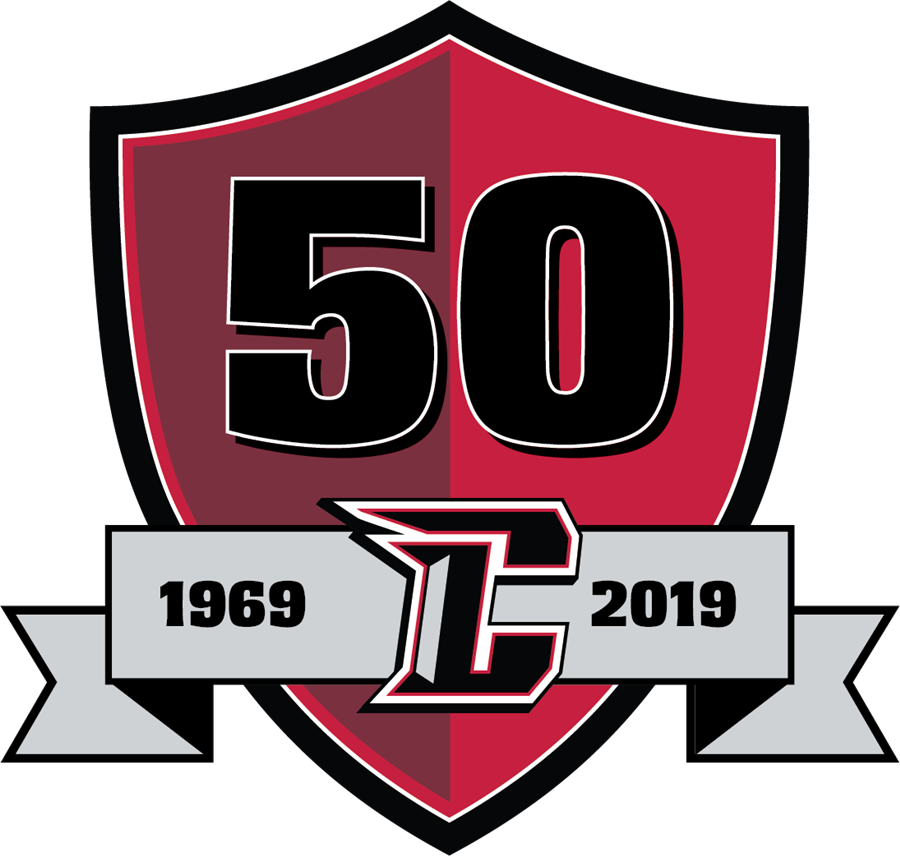 Churchill 50th anniversary logo