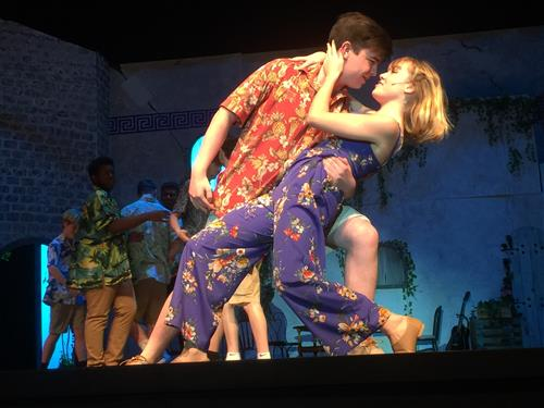 students in Mamma Mia show