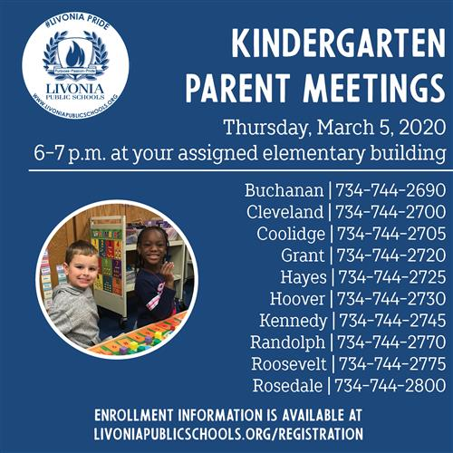 KDG PARENT MEETINGS MARCH 5
