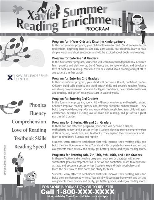 reading program flyer