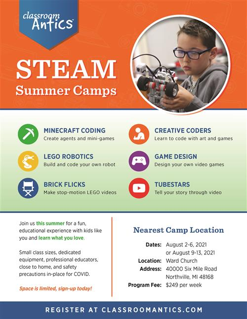 STEM camp flyer