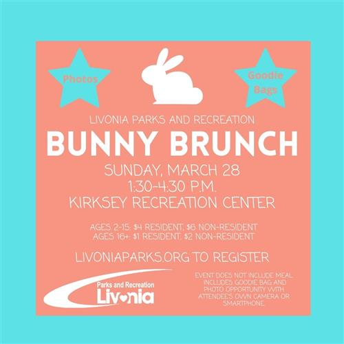 bunny brunch flyer