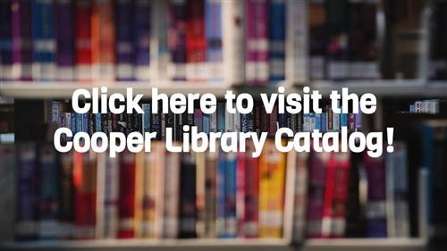 photo button to cooper library catalog