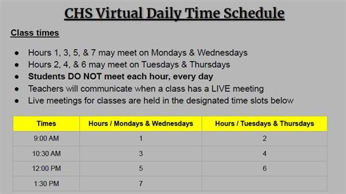 CHS Virtual Daily Time Schedule